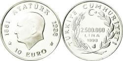 World Coins - Coin, Turkey, 2500000 Lira, 1998, Istanbul, Proof, , Silver, KM:1084