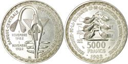 Ancient Coins - Coin, West African States, 5000 Francs, 1982, Paris, , Silver, KM:11