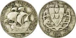 World Coins - Coin, Portugal, 2-1/2 Escudos, 1947, , Silver, KM:580