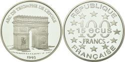 World Coins - Coin, France, Arc de Triomphe, 100 Francs-15 Ecus, 1993, , Silver
