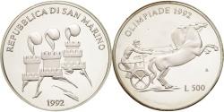 World Coins - SAN MARINO, 500 Lire, 1992, KM #276, , Silver, 29, 11.00
