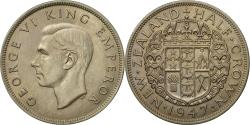 World Coins - Coin, New Zealand, George VI, 1/2 Crown, 1947, , Copper-nickel, KM:11a