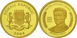 World Coins - Coin, Somalia, 50 Shillings, 2004, MS(65-70), Gold