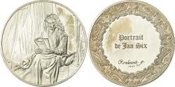 World Coins - France, Medal, Peinture, Rembrandt, Portrait de Jan Six, , Silver