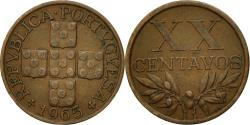 World Coins - Portugal, 20 Centavos, 1965, , Bronze, KM:584