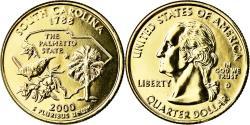Us Coins - Coin, United States, South Carolina, Quarter, 2000, U.S. Mint, Denver, golden
