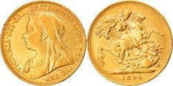 World Coins - Coin, Australia, Victoria, Sovereign, 1895, Melbourne, , Gold, KM:13