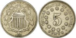Us Coins - Coin, United States, Shield Nickel, 5 Cents, 1867, U.S. Mint, Philadelphia