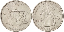 Us Coins - United States, State Quarter, 2002, Denver, Tennessee, KM:331