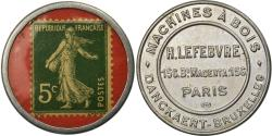 World Coins - Coin, France, Machines à Bois, H.Lefebvre Paris, 5 Centimes, Timbre-Monnaie