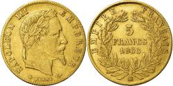Ancient Coins - Coin, France, Napoleon III, Napoléon III, 5 Francs, 1866, Strasbourg