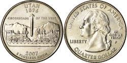 Us Coins - Coin, United States, Utah, Quarter, 2007, Philadelphia, , Copper-Nickel