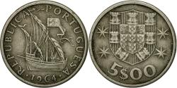 World Coins - Coin, Portugal, 5 Escudos, 1964, , Copper-nickel, KM:591