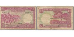 World Coins - Banknote, Belgian Congo, 10 Francs, 1943, 1943-02-10, KM:14c, VF(20-25)