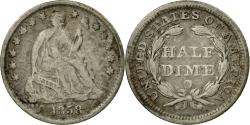 Us Coins - Coin, United States, Seated Liberty Half Dime, Half Dime, 1858, U.S. Mint, New