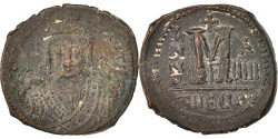 Ancient Coins - Maurice Tiberius 582-602, Follis, 595, Antioch, , Copper, Sear:533