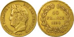 World Coins - Coin, France, Louis-Philippe, 40 Francs, 1834, Paris, , Gold, KM:747.1