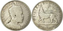 World Coins - Coin, Ethiopia, Menelik II, 1/2 Birr, 1897, Paris, , Silver, KM:4