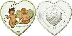 World Coins - Coin, Palau, Ange et démon, 5 Dollars, 2007, , Silver, KM:153