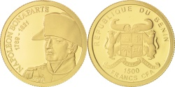 World Coins - Benin, 1500 Francs CFA, Napoléon Bonaparte, 2011, , Gold