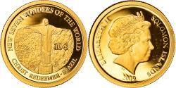 World Coins - Coin, Solomon Islands, Christ Statue in Rio, Elizabeth II, 10 Dollars, 2009