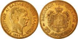 World Coins - Coin, Greece, George I, 20 Drachmai, 1884, Paris, , Gold, KM:56