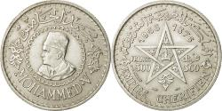 World Coins - Coin, Morocco, Mohammed V, 500 Francs, 1956, Paris, AU(50-53), Silver, KM:54