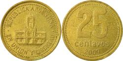 World Coins - Coin, Argentina, 25 Centavos, 2009, , Aluminum-Bronze, KM:110.1