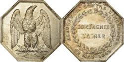 World Coins - France, Token, Insurance, L'aigle, Assurances contre l'Incendie, 1843, Crabbe
