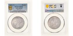 World Coins - Coin, INDIA-BRITISH, Victoria, Rupee, 1840, Calcutta, PCGS, MS62,
