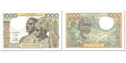World Coins - Banknote, West African States, 1000 Francs, 1980, Undated (1980), KM:103An