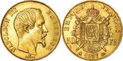 World Coins - Coin, France, Napoleon III, Napoléon III, 50 Francs, 1857, Paris,