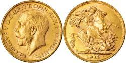 World Coins - Coin, Australia, George V, Sovereign, 1913, Melbourne, , Gold, KM:29