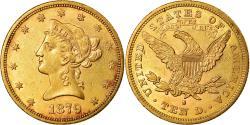 Coin, United States, Coronet Head, $10, Eagle, 1879, U.S. Mint, San Francisco