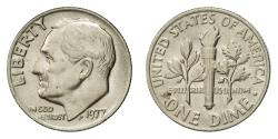 Us Coins - Coin, United States, Roosevelt Dime, Dime, 1977, U.S. Mint, Philadelphia