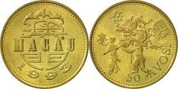 World Coins - Macau, 50 Avos, 1993, British Royal Mint, , Brass, KM:72