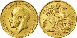 World Coins - Coin, Great Britain, George V, 1/2 Sovereign, 1914, , Gold, KM:819