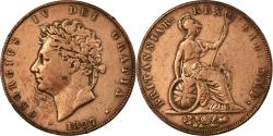 World Coins - Coin, Great Britain, George IV, 1/2 Penny, 1827, , Copper, KM:692