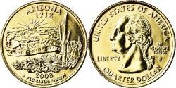 Us Coins - Coin, United States, Arizona, Quarter, 2008, U.S. Mint, Dahlonega,
