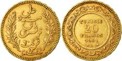 World Coins - Coin, Tunisia, Ali Bey, 20 Francs, 1901, Paris, , Gold, KM:227
