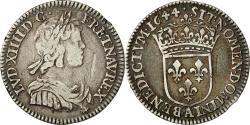 World Coins - Coin, France, Louis XIV, 1/12 Écu à la mèche courte, 1/12 ECU, 10 Sols, 1644