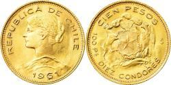 World Coins - Coin, Chile, 100 Pesos, 1961, Santiago, , Gold, KM:175