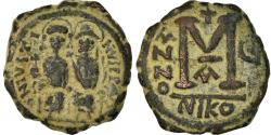 Ancient Coins - Coin, Justin II, Follis, 569-570, Nicomedia, , Copper, Sear:369