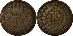 World Coins - Coin, Portugal, Jo, 10 Reis, X; 1/2 Vinten, 1743, , Copper, KM:227