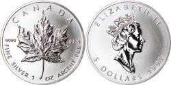 World Coins - Coin, Canada, Elizabeth II, 5 Dollars, 1991, Royal Canadian Mint, Ottawa, BU