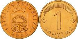 World Coins - Coin, Latvia, Santims, 2003, , Copper Clad Steel, KM:15
