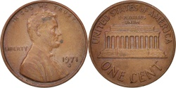 Us Coins - United States, Lincoln Cent, 1971, San Francisco, , KM:201
