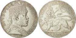 World Coins - Coin, Ethiopia, Menelik II, Birr, 1892 (1899), Paris, MS(60-62), Silver, KM:19