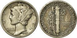 Us Coins - Coin, United States, Mercury Dime, Dime, 1937, U.S. Mint, Philadelphia