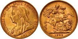 World Coins - Coin, Australia, Victoria, Sovereign, 1899, Melbourne, , Gold, KM:13